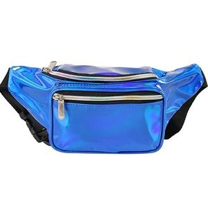 Handbags - Blue Holographic Fannypack